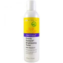 Derma E, Evenly Radiant Brightening Toner with Vitamin C, 6 fl oz (175 ml)