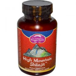 Dragon Herbs, High Mountain Shilajit, 500 mg, 60 Capsules