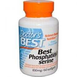 Doctor's Best, Best Phosphatidylserine, 100 mg, 60 Softgels