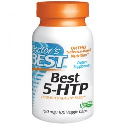 Doctor's Best, Best 5-HTP, 100 mg, 180 Veggie Caps