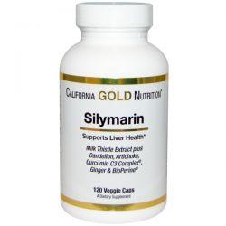 California Gold Nutrition, Silymarin Milk Thistle Extract, 120 Veggie Caps
