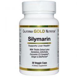 California Gold Nutrition, Silymarin Milk Thistle Extract, 30 Veggie Caps