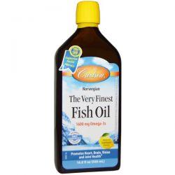 Carlson Labs, The Very Finest Fish Oil, Natural Lemon Flavor, 16.9 fl oz (500 ml)