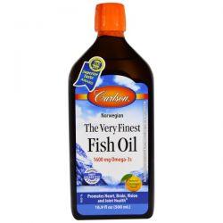 Carlson Labs, The Very Finest Fish Oil, Natural Orange Flavor, 16.9 fl oz (500 ml)