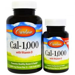 Carlson Labs, Cal-1,000, 100 Soft Gels + Free 30 Soft Gels