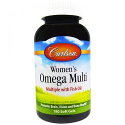 Carlson Labs, Women's Omega Multi, Multiple with Fish Oil, 180 Soft Gels