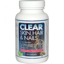 Clear Products, Clear Skin, Hair & Nails, 120 Capsules