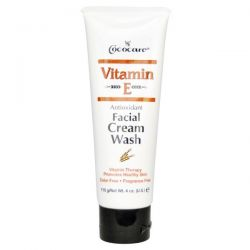 Cococare, Vitamin E, Antioxidant Facial Cream Wash, 4 oz (110 g)
