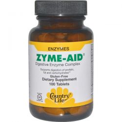 Country Life, Zyme-Aid, Digestive Enzyme Complex, 100 Tablets