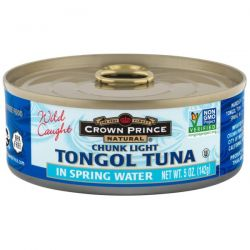 Crown Prince Natural, Chunk Light Tongol Tuna, In Spring Water, 5 oz (142 g)
