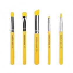 Bdellium Tools, Yellow Bambu Series, Smoky Eyes, 5 Piece Brush Set