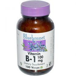 Bluebonnet Nutrition, Vitamin B-1, 100 mg, 100 Vcaps