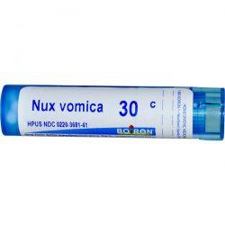 Boiron, Single Remedies, Nux Vomica, 30C, Approx 80 Pellets