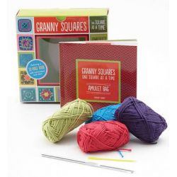 Granny Squares, One Square at a Time / Amulet, Includes Hook and Yarn for Making Two Amulet Bag Necklaces - Featuring a 32-Page Book with Instructions and Ideas by Margaret Hubert, 9781589
