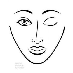 Makeup Face Chart Portfolio, Extra Large Face Chart by Sarie Smith, 9781495247088.