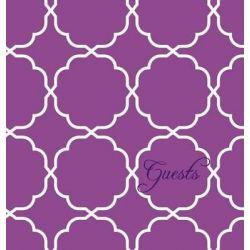 Modern Jen Guest Book and Anniversary Journal, Orchid Purple by Jennifer Meissner, 9780996036634.