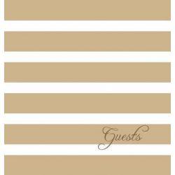 Modern Jen Guest Book and Anniversary Journal, Tan Stripes by Jennifer Meissner, 9780991206124.