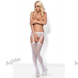 Obsessive Garter stockings S307 white kabaretka