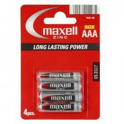 MAXELL BATTERY MANGANESE/ZINC R03/AAA BLISTER*4 774407.04.EU...
