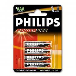 PHILIPS BATERIE ALKAL. POWERLIFE LR03/AAA BLI*4 (LR3PB4C/10)...