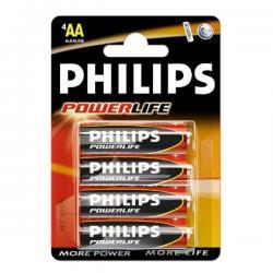PHILIPS BATERIE ALKAL. POWERLIFE LR06/AA BLI*4 (LR6PB4C/10)...
