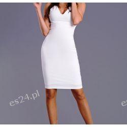 Sukienka z koronką biała