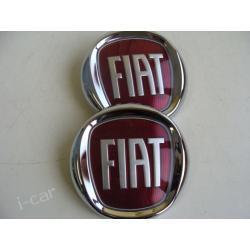 Emblemat FIAT, znaczek FIAT - nowy czerwony
