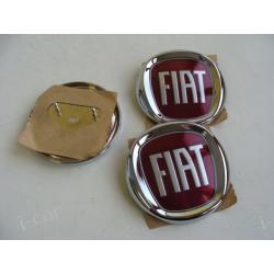 FIAT - emblemat czerwony - średnica 8cm