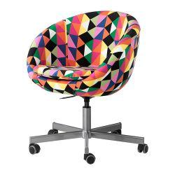 SKRUVSTA Krzesło obrotowe, Majviken wielobarwny