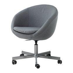 SKRUVSTA Krzesło obrotowe, Vissle szary