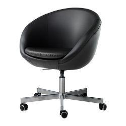 SKRUVSTA Krzesło obrotowe, Idhult czarny
