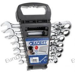 Zestaw kluczy płasko oczkowych z grzechotką 7 szt. 8-19 mm, EXPERT E111108