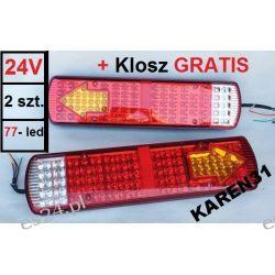 2 x LAMPA 77-LED TYLNE zespolona 24V +GRATIS Klosz