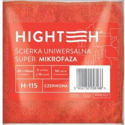 ŚCIERKA UNIWERSALNA SUPER MIKROFAZA CZERWONA 1 SZTUKA 40x40
