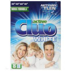 CLUO ACTIVE WHITE 600 g proszek do prania biały Utrzymanie czystości