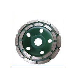 Tarcza garnkowa dwurzędowa 125x22 zielona tarcza frez do betonu posadzki