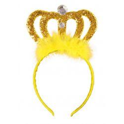 TIARA ŻÓŁTA diadem królewny księżniczki korona