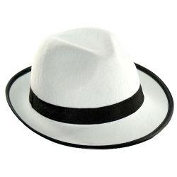 Kapelusz AL CAPONE GANGSTER biały stroj kostium