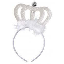 TIARA BIAŁA diadem królewny księżniczki korona bal