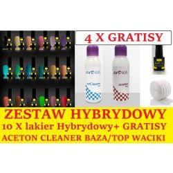 BIG ZESTAW 10X LAKIER HYBRYDOWY artLak +4 GRATISY