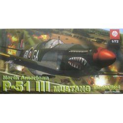 P-51 III Mustang North American Malcolm Hood, ZTS PLASTYK 051 Materiały modelarskie