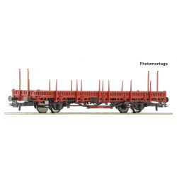 Wagon platforma typ Ks, Roco 76689 101-500 elementów