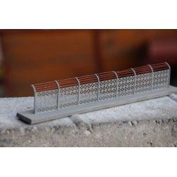 Płot betonowy Typ: 14, A&S Projekt Kolekcje