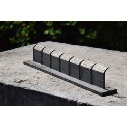 Płot betonowy Typ: 12, A&S Projekt Kolekcje