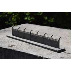 Płot betonowy Typ: 11 1:87, A&S Projekt 101-500 elementów