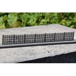 Płot betonowy Typ: 08 1:87, A&S Projekt Wagony