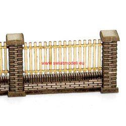 Ogrodzenie murowane z drewnianym przęsłem KoTeBi KTB087252 HO - 1:87
