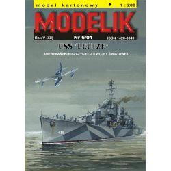 USS LEUTZE 1/200 MODELIK 0106 Pozostałe