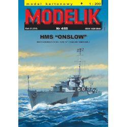 """HMS """"ONSLOW"""" 1/200 MODELIK 0504 Skarpetki"""