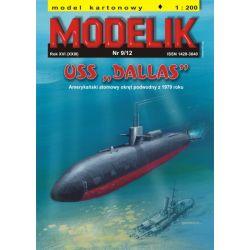 """USS """"DALLAS"""" 1/200 MODELIK 1210 HO - 1:87"""
